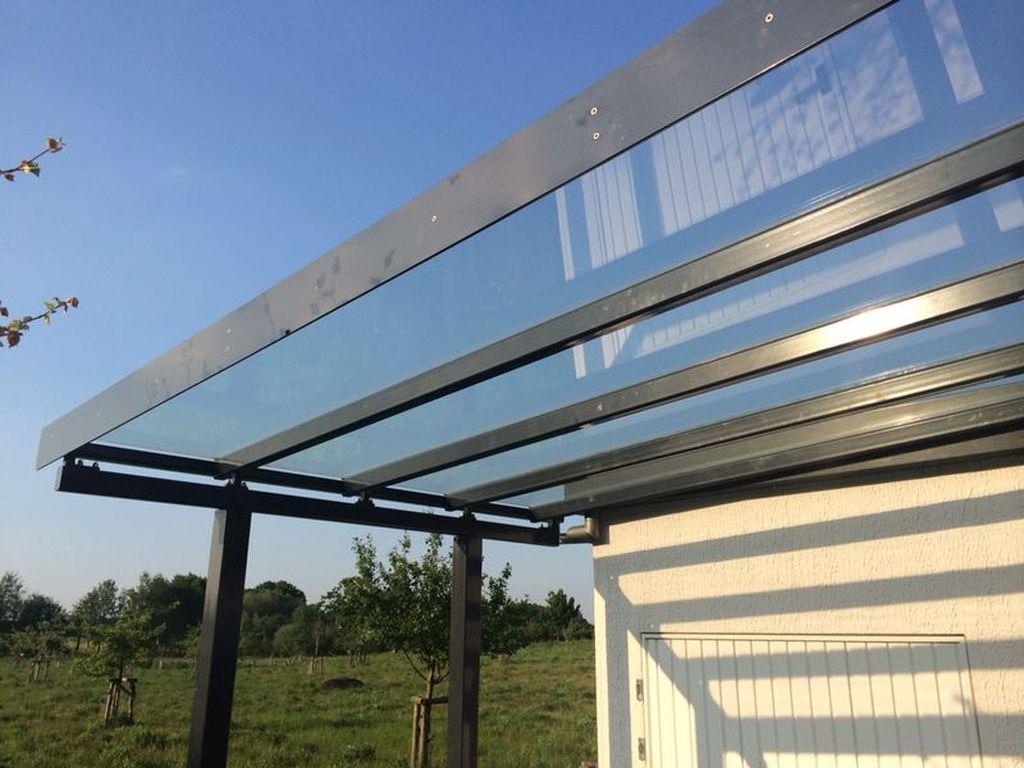 radkowski metallbau - sichtschutzwände und vordächer aus stahl und glas